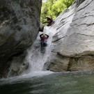 Canyoning Valle Verzasca slide