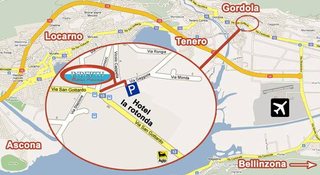 Gordola - Locarno Map